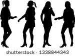 silhouette of a woman.   Shutterstock .eps vector #1338844343