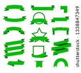 set of beautiful festive green... | Shutterstock .eps vector #1338847349
