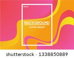 abstract wavy geometric... | Shutterstock .eps vector #1338850889