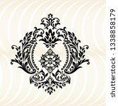 oriental vector damask patterns ...   Shutterstock .eps vector #1338858179