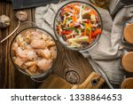 raw chicken fillet breast cut... | Shutterstock . vector #1338864653
