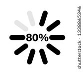 percentage loading indicators... | Shutterstock .eps vector #1338865346