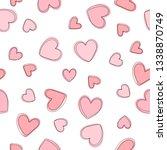 soft  pastel pink background... | Shutterstock .eps vector #1338870749