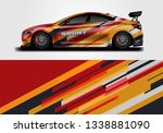 car sporty wrap decal design... | Shutterstock .eps vector #1338881090