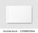 realistic closed blank book... | Shutterstock .eps vector #1338882866