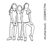 white background  sketch of... | Shutterstock .eps vector #1338892796