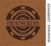 trustworthy wooden signboards   Shutterstock .eps vector #1338894419