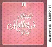 vintage happy mothers day cards ... | Shutterstock .eps vector #133890464