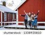 happy family trip to lofoten... | Shutterstock . vector #1338920810