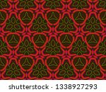 a hand drawing pattern made of... | Shutterstock . vector #1338927293