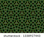 a hand drawing pattern made of... | Shutterstock . vector #1338927443