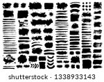 brush strokes text boxes.... | Shutterstock .eps vector #1338933143