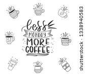 modern coffee lettering... | Shutterstock .eps vector #1338940583