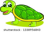 young teenage turtle with hard... | Shutterstock .eps vector #1338956843