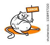 error 404 page not found... | Shutterstock .eps vector #1338957320