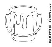 paint bucket with splash in...   Shutterstock .eps vector #1338962723