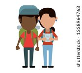 couple of tourists avatar... | Shutterstock .eps vector #1338964763