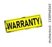 warranty web dirty rusty metal... | Shutterstock .eps vector #1338968363