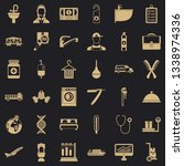 occupation icons set. simple... | Shutterstock .eps vector #1338974336