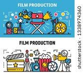 film production banner set.... | Shutterstock .eps vector #1338974360