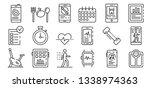 apps for fitness icons set.... | Shutterstock .eps vector #1338974363
