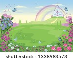 fairytale background with a... | Shutterstock .eps vector #1338983573