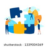 business concept. team metaphor.... | Shutterstock .eps vector #1339004369