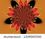 a hand drawing pattern made of... | Shutterstock . vector #1339005530