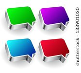 set of colourful speech icon... | Shutterstock .eps vector #133901030