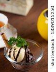 vanilla and chocolate ice cream ... | Shutterstock . vector #1339015250