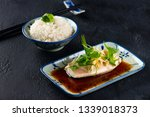 chinese style  fish steamed... | Shutterstock . vector #1339018373