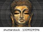 gautama buddha against the... | Shutterstock . vector #1339029596