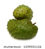 soursop fruit isolated on white ... | Shutterstock . vector #1339031126