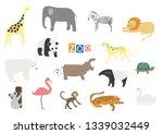 vector zoo animals. many... | Shutterstock .eps vector #1339032449