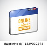 online store buy now sign on a... | Shutterstock .eps vector #1339032893