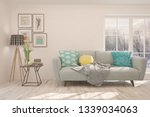 white stylish minimalist room... | Shutterstock . vector #1339034063