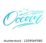 modern hand lettering about... | Shutterstock .eps vector #1339069580