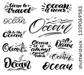 big set of hand lettering about ... | Shutterstock .eps vector #1339069583