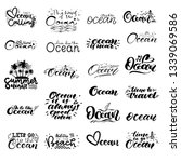 big set of hand lettering about ... | Shutterstock .eps vector #1339069586