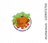 fried chicken isolated... | Shutterstock . vector #1339072703