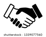 black and white interracial... | Shutterstock .eps vector #1339077560