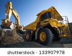 clean image of yellow excavator ... | Shutterstock . vector #133907978