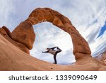 man unsuccessfully trying to do ... | Shutterstock . vector #1339090649