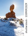balanced rock in arches... | Shutterstock . vector #1339092329
