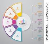 abstract 5 steps presentation... | Shutterstock .eps vector #1339098140