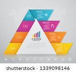 4 steps pyramid with free space ... | Shutterstock .eps vector #1339098146