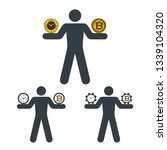 bitcoin and clock. time and... | Shutterstock .eps vector #1339104320