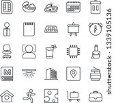 thin line icon set   taxi... | Shutterstock .eps vector #1339105136