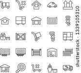 thin line icon set   truck... | Shutterstock .eps vector #1339105310