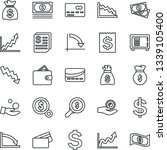 thin line icon set   credit... | Shutterstock .eps vector #1339105400